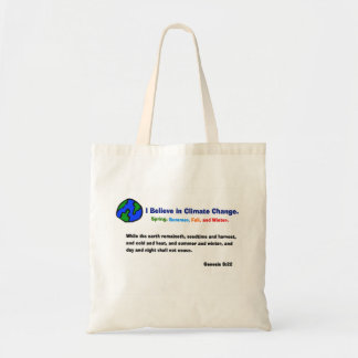 Believe in climate change bag