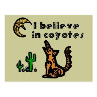 Believe in Coyotes Postcard