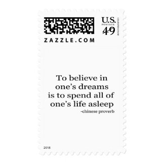 Believe in Dreams quote Postage