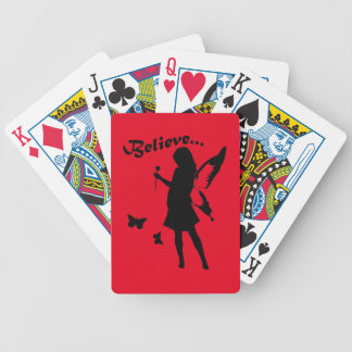 Believe in Fairies Bicycle Playing Cards