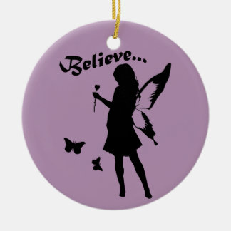 Believe in Fairies Ceramic Ornament