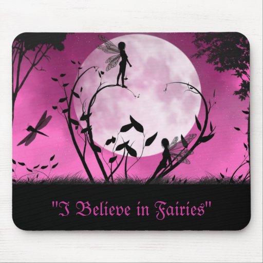 Believe In Fairies moonlight mousepad