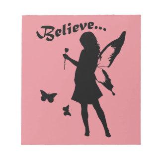 Believe in Fairies Note Pad