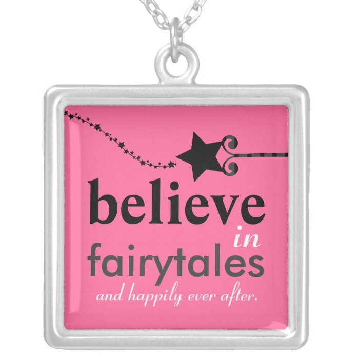 Believe in Fairytales Sterling Silver Necklace