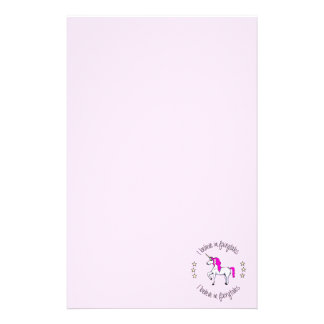 Believe in fairytales unicorn cartoon girls stationery