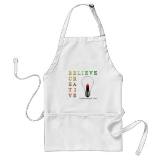 Believe in Idea Crossword Puzzle Adult Apron