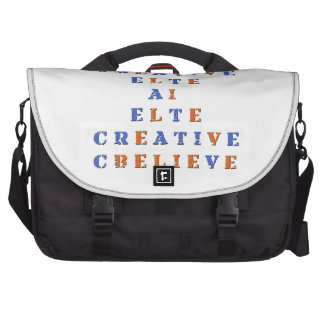 Believe in Idea Crossword Puzzle Bags For Laptop
