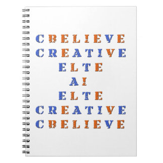 Believe in Idea Crossword Puzzle Notebook