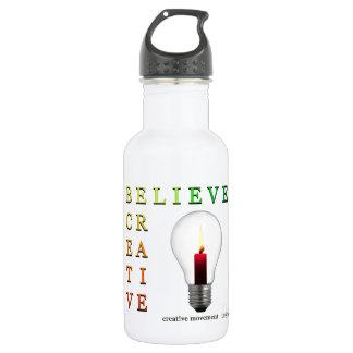 Believe in Idea Crossword Puzzle 18oz Water Bottle