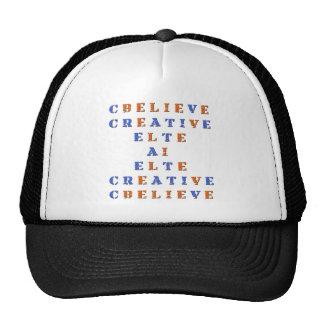 Believe in Idea Crossword Puzzle Trucker Hat