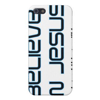 Believe in Jesus Christian saying Cases For iPhone 5