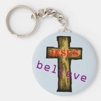 Believe in Jesus Keychain