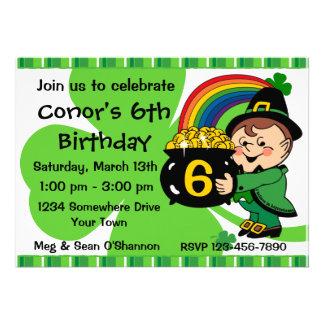 Believe In Leprechauns Birthday Party Invitation