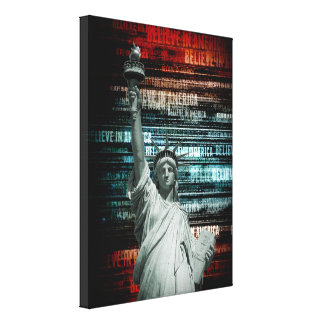 Believe In Liberty Stretched Canvas Print