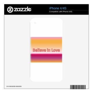Believe in Love iPhone 4S Skins