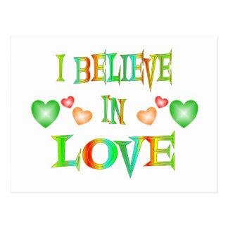 Believe in Love Postcard