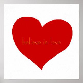 believe in love poster