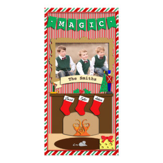 Believe in Magic • Christmas Spirit • 3 Stocking Card