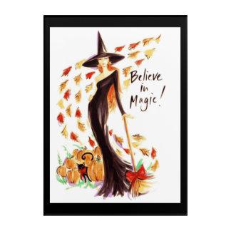 """BELIEVE IN MAGIC"" HALLOWEEN ACRYLIC WALL ART"