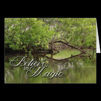 Believe in Magic Heart in Nature Green Card