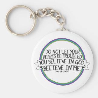 Believe In Me (John 14:1 NIV) Keychain