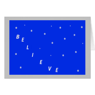 Believe in Miracles Christmas Card