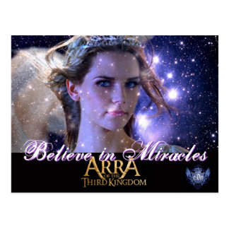 BELIEVE IN MIRACLES -Postcard Postcard
