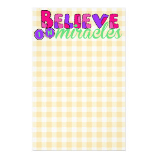 Believe in Miracles Custom Stationery
