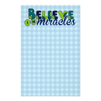 Believe in Miracles Personalized Stationery