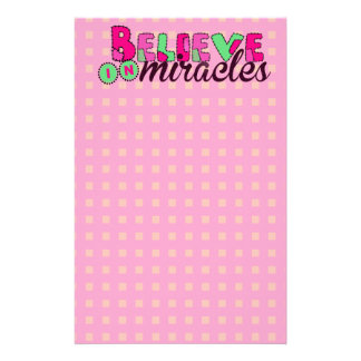 Believe in Miracles Stationery Paper
