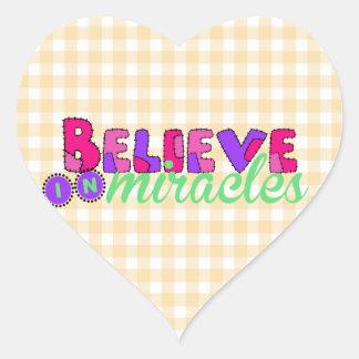 Believe in Miracles Heart Sticker