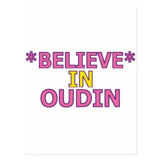 Believe in Oudin Postcard