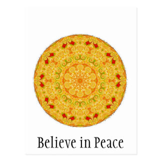Believe in Peace Postcard