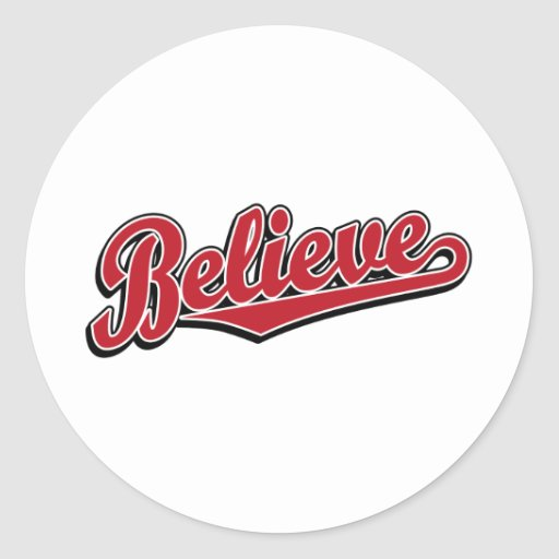 Believe in Red Deluxe Round Stickers