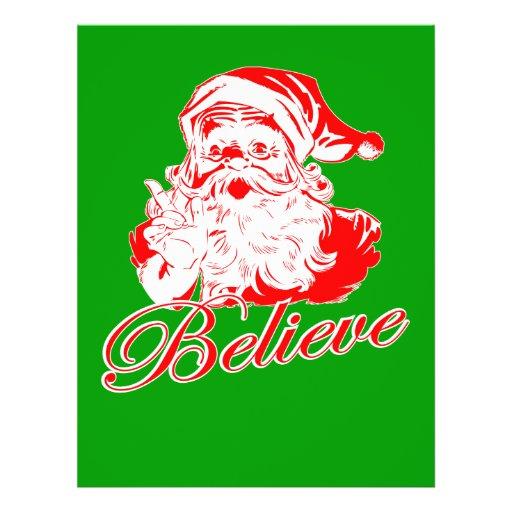 """Believe in Santa 8.5"""" X 11"""" Flyer"""