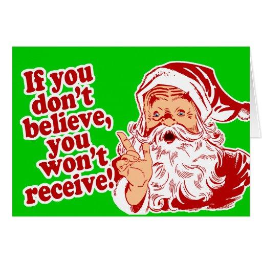 Believe in Santa Card
