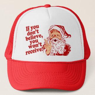 Believe In Santa, Christmas Trucker Hat