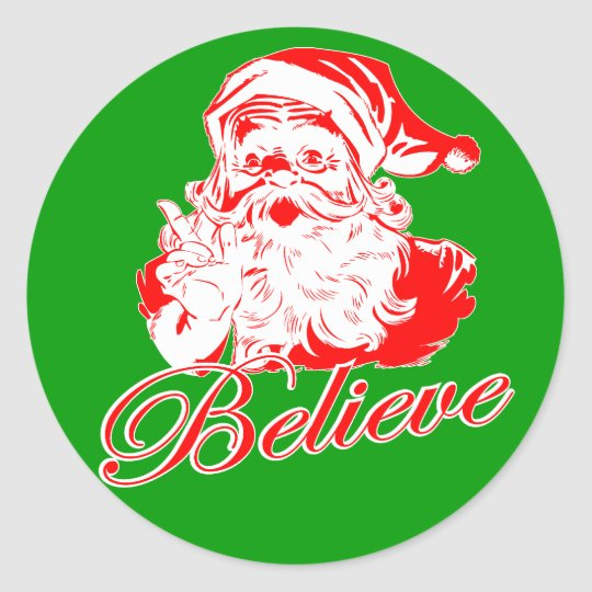 Believe in Santa Classic Round Sticker