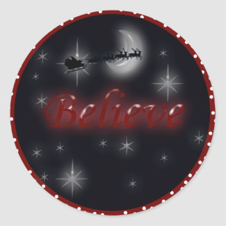 believe in Santa Classic Round Sticker