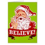 Believe In Santa Claus Cards
