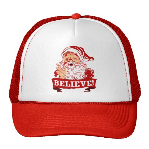 Believe In Santa Claus Trucker Hats