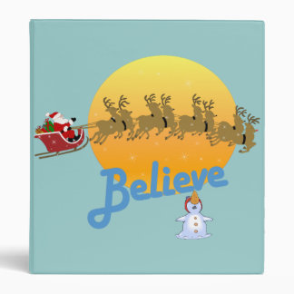 Believe In Santa Claus Holiday Binder