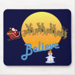 Believe In Santa Claus Mouse Pad