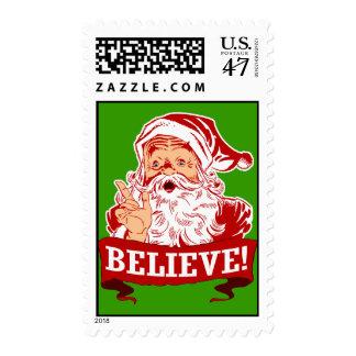 Believe In Santa Claus Postage