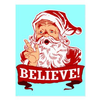 Believe In Santa Claus Postcard