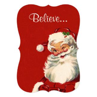 'Believe' in Santa 5x7 Paper Invitation Card