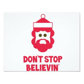 Believe in Santa! 4.25x5.5 Paper Invitation Card
