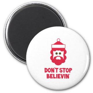 Believe in Santa Fridge Magnets
