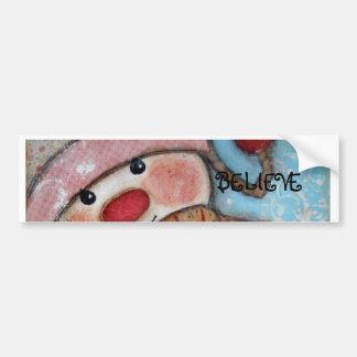 Believe in Snowmen Bumper Sticker