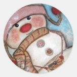 Believe in Snowmen Classic Round Sticker